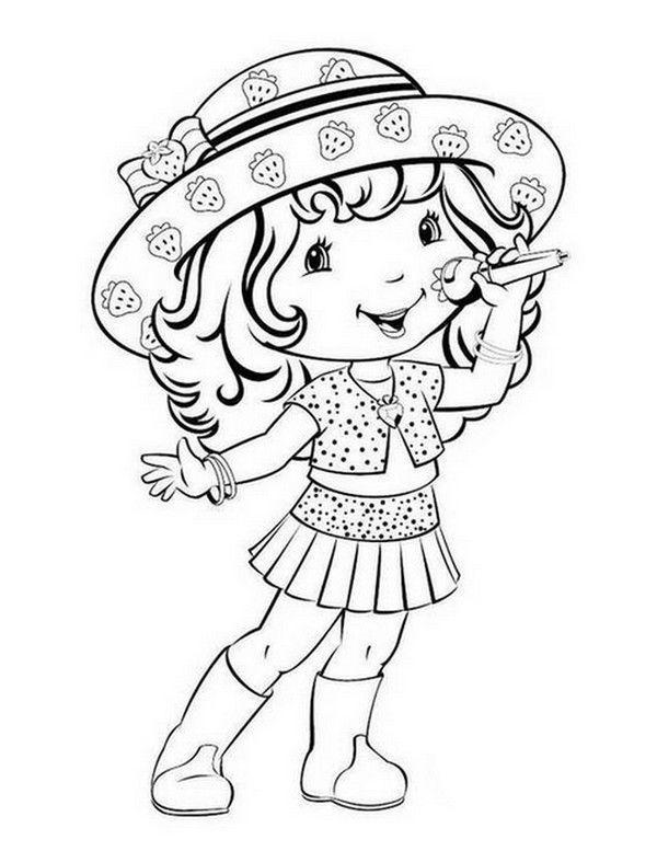 Charlotte aux fraises coloriages - Coloriage chanteuse ...