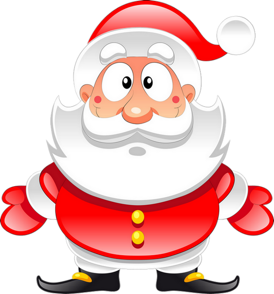 Clipart Pere Noel Santa Claus Weihnachtsmann Png