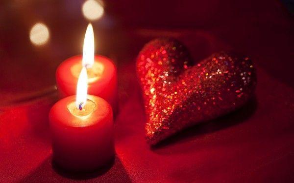 Extrêmement d'écran St Valentin : coeur, bougies - Valentine's day CN93