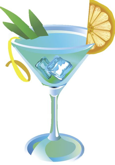 Cocktail bleu dessin - Dessin cocktail ...