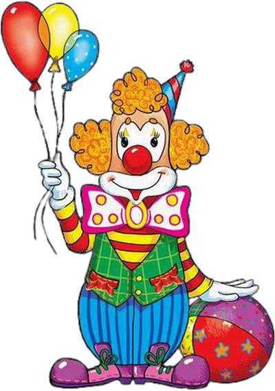 Clown Et Ballons Dessin Couleur Png Clown Colored Png Dessin