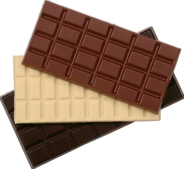 Tablettes De Chocolat Au Lait Blanc Noir