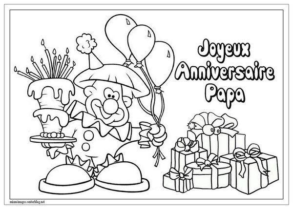 Anniversaire coloriage joyeux anniversaire papa - Dessin pour anniversaire ...