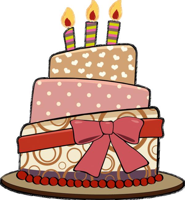 Gâteau d'anniversaire png, dessin - Birthday cake clipart