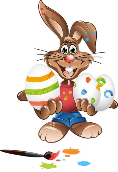Tube Paques Lapin Png Oeufs Easter Clipart Bunny Eggs