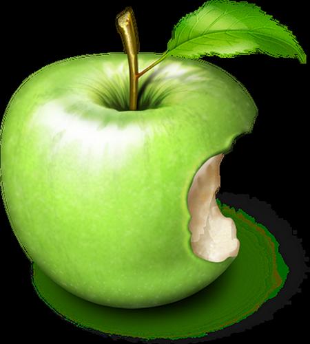 Dessin de pomme croquee - Dessin pomme apple ...