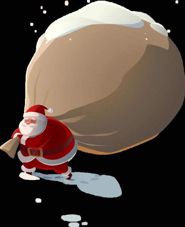 Le Père Noël Et Sa Hotte Clipart Christmas Santa Png