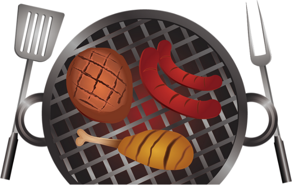 Gril barbecue, dessin png, BBQ party, grillades, clipart