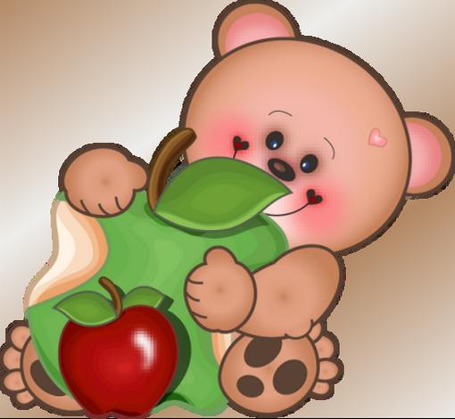 Ourson Et Pommes Dessin