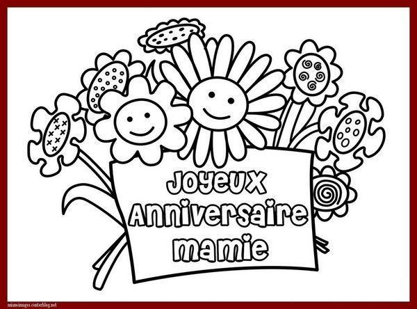anniversaire coloriage joyeux anniversaire mamie - Anniversaire Mamie