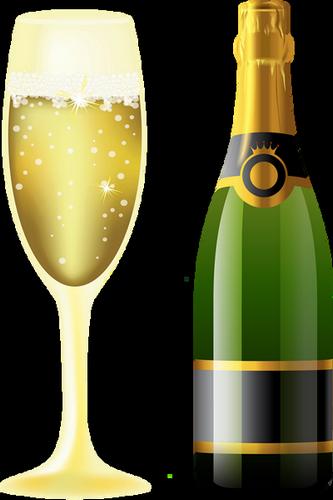 Bouteille De Champagne Dessin bottle