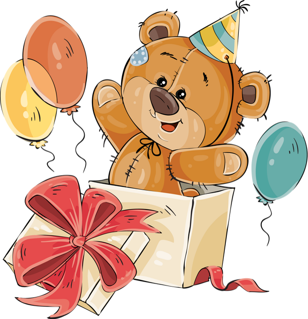 Tube Anniversaire Ours Png Birthday Clipart Bear Png