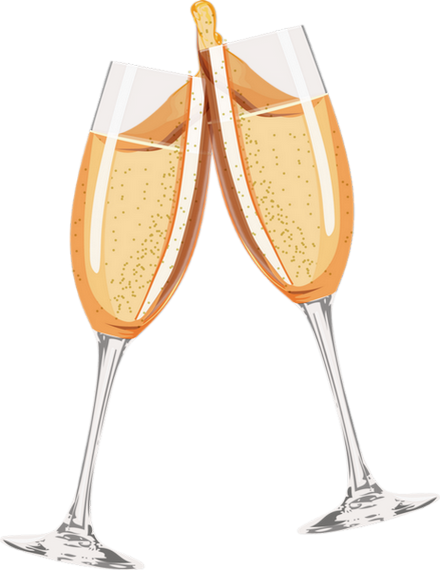 verres de champagnes sur fond transparent fl tes. Black Bedroom Furniture Sets. Home Design Ideas