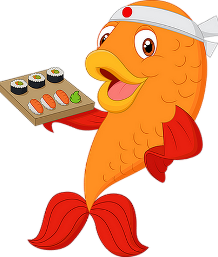 Poisson chef cuisinier nippon asia food drawing png for Cuisinier png