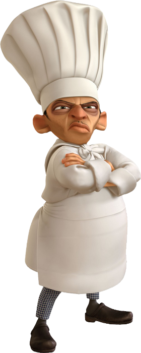 Personnage du film ratatouille skinner le chef cuisinier for Cuisinier png