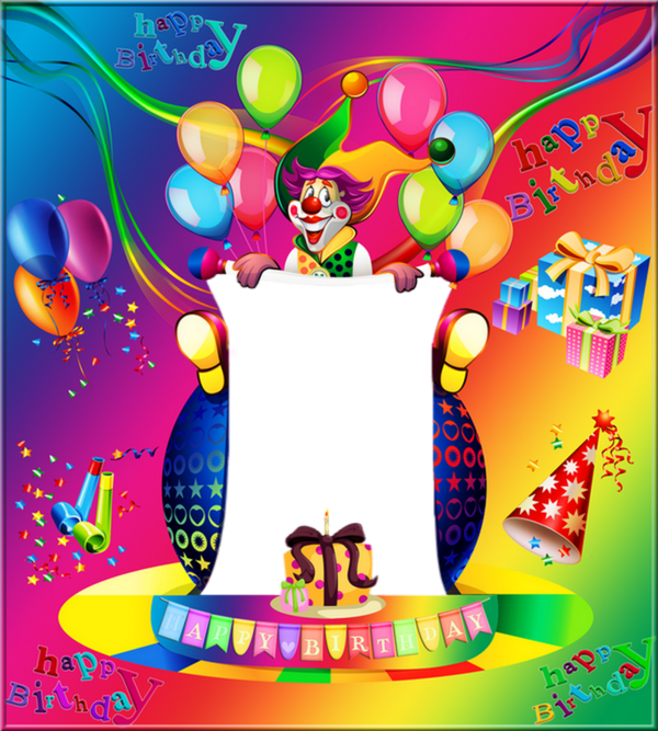 anniversaire cadre clown happy birthday marco png. Black Bedroom Furniture Sets. Home Design Ideas