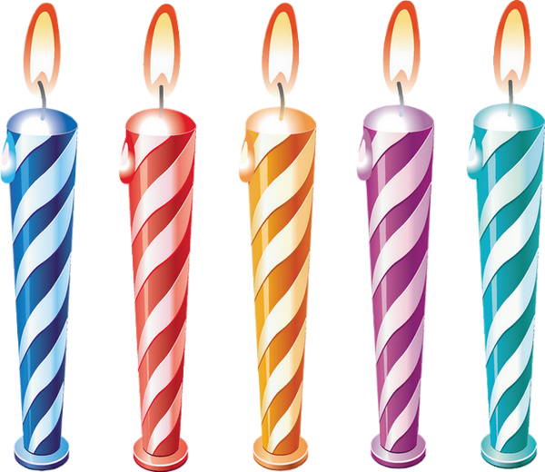 Bougie Anniversaire kit bougies d'anniversaire png - birthday candles