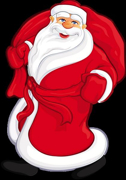 Tube Père Noël Et Sa Hotte Santa Png Babbo Natale
