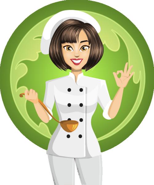 Cuisinier Femme Dessin Cocinera Png Koch Png