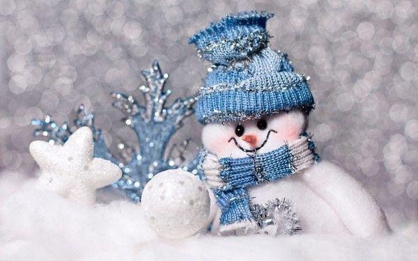 bonhomme de neige fond bleu avec flocons centerblog. Black Bedroom Furniture Sets. Home Design Ideas