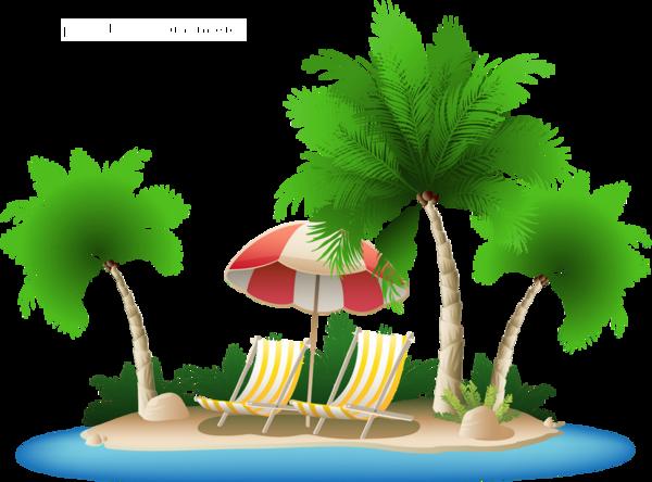 Plage Tropicale Dessin Png Tube Vacances Beach Clipart