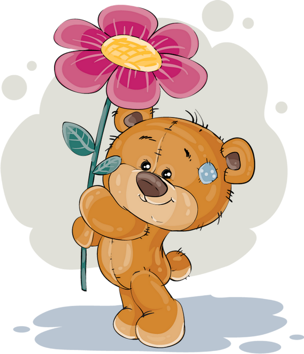 Dessin Anniversaire Ours Png Fleur Birthday Drawing