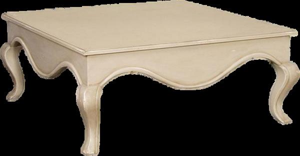 Table basse peinte en blanc - Table basse peinte ...