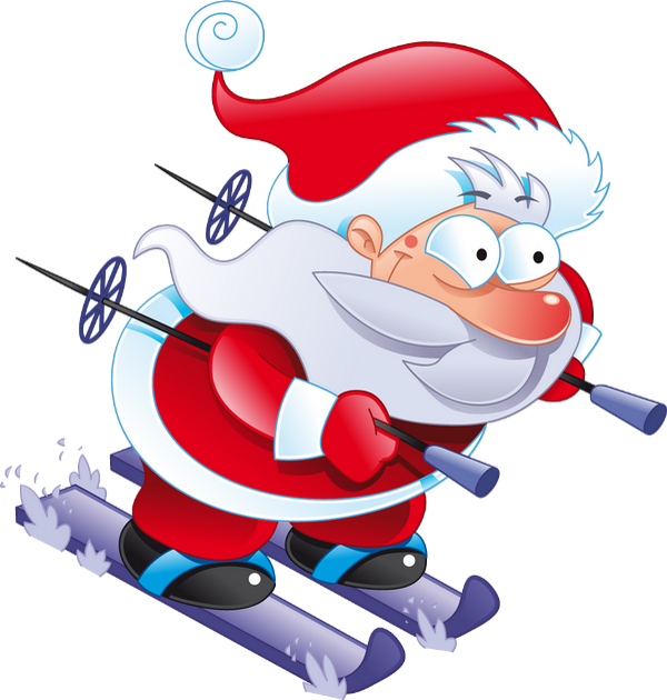 P re no l png ski weihnachtsmann santa claus png - Pere noel ski ...