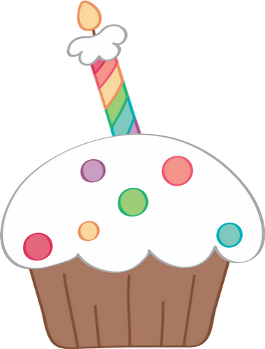 Gâteau D Anniversaire 1 Bougie Cupcake Png Birthday