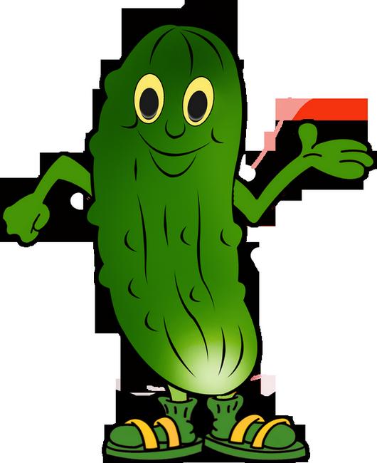 Tube PNG dessin personnage : cornichon , concombre