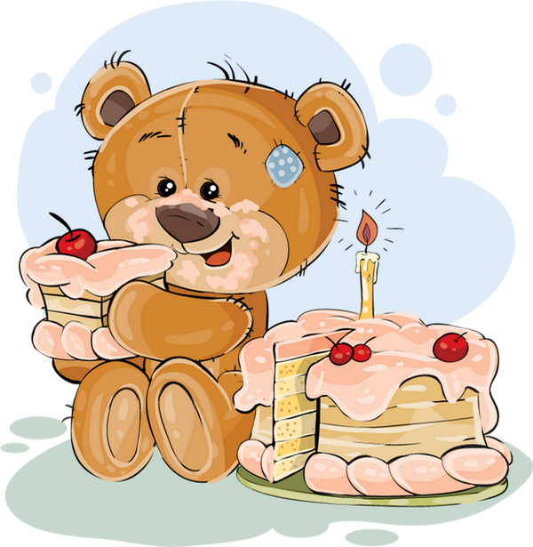 Dessin Anniversaire Ours Png Gâteau Birthday Drawing