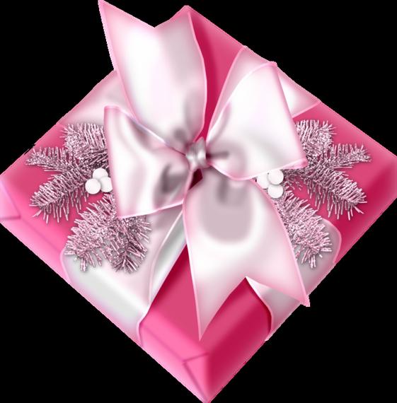 Tube Noël : paquet cadeau rose   Weihnachtsgeschenk