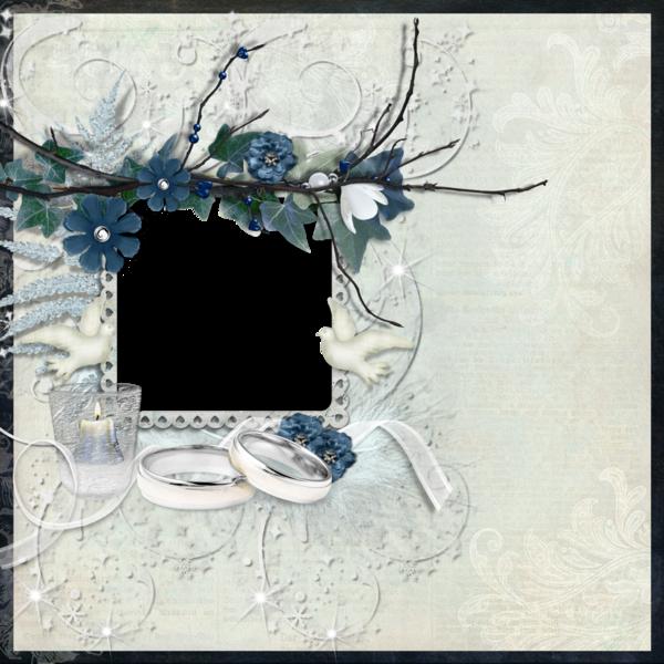 Cadre mariage - Hochzeitsrahmen - Wedding frame png