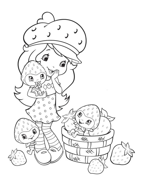 Coloriage charlotte aux fraises et les fraisi copains - Charlotte aux fraises dessin ...