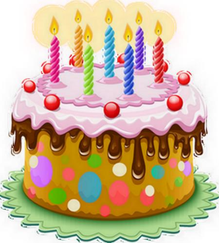 Gâteau Danniversaire Avec Bougies Birthday Cake