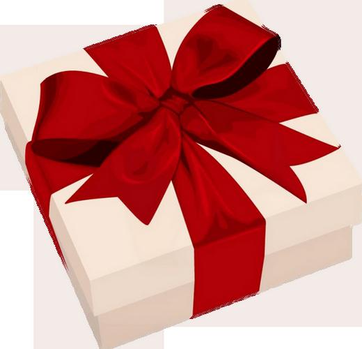 cadeau et ruban rouge regalo png geschenk clipart. Black Bedroom Furniture Sets. Home Design Ideas