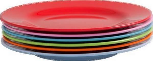 Vaisselle assiettes - Assiette ronde en verre transparent ...