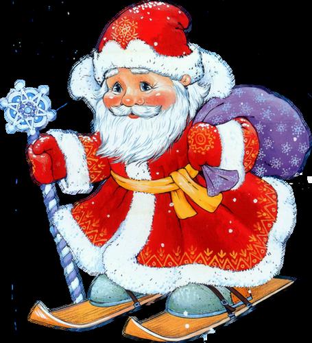 Image Pere Noel En Ski.Pere Noel Ski Weihnachtsmann Tube Santa Png