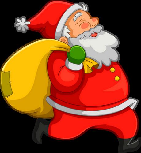 Le Père Noël Et Sa Hotte Tube Santa Png Christmas