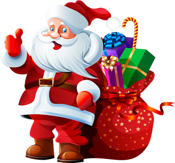 Le Père Noël Et Sa Hotte Tube Santa Png Navidad