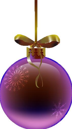 Noël : tube boule violette - Christmas ball png - Navidad