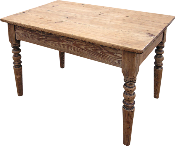 Table en bois sur fond transparent  tube  Mesa png