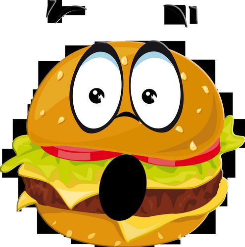 Hamburger Emoticone Etonne