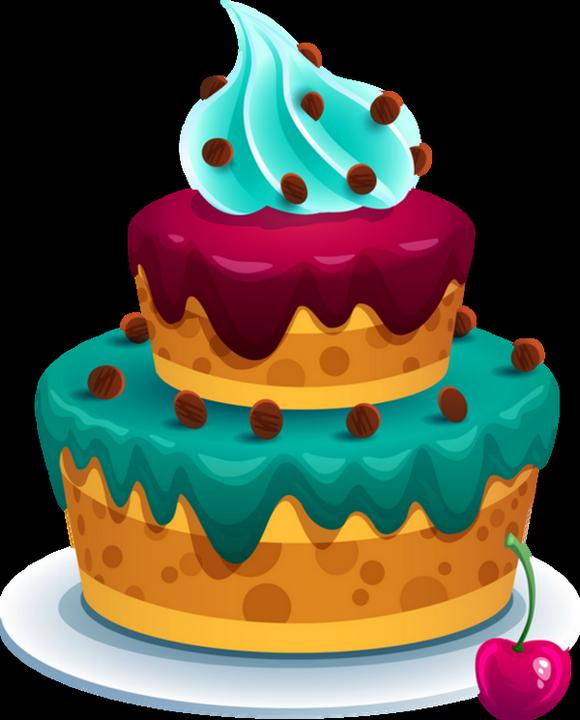 Gâteau  dessin couleur , Cake png