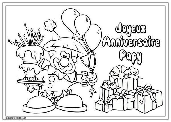 Anniversaire coloriage joyeux anniversaire papy - Dessin de bon anniversaire ...
