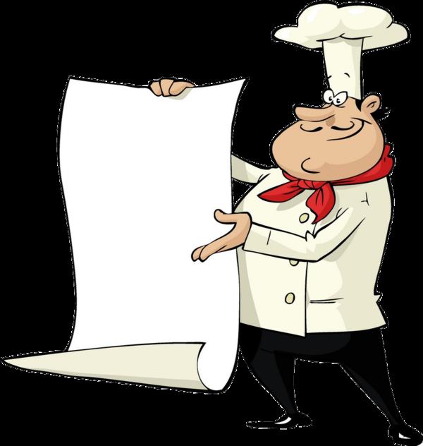 Cuisiniers avec pancarte page 2 for Cuisinier png
