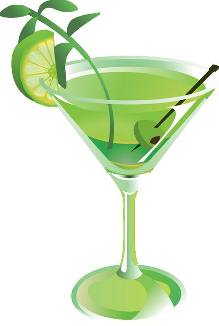 Cocktail vert dessin - Dessin cocktail ...
