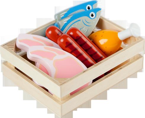 jouet en bois caisse d 39 aliments. Black Bedroom Furniture Sets. Home Design Ideas