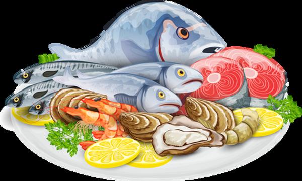 Poisson fruits de mer - Poisson dessin couleur ...
