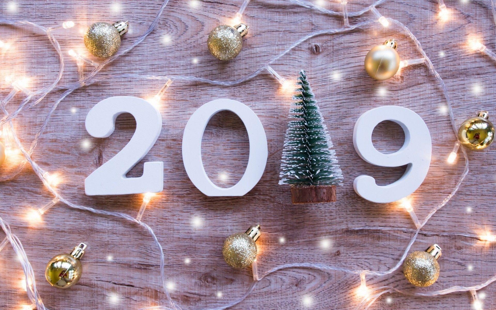 2019 : Fond D'écran Nouvelle Année